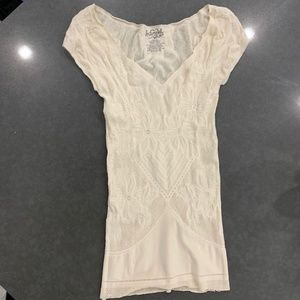 Fitted Intimately Free People Creme Tight Top